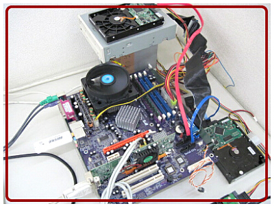 自作パソコンの写真
