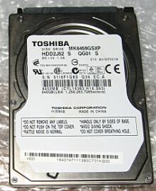 ノートパソコンのHDD交換:2.5インチSATA