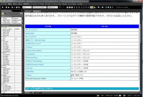 【特選】使えるフリーソフト「Microsoft Expression web4」【便利】
