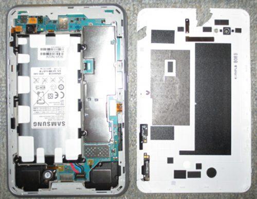 Samsungのアンドロイドタブレット分解「SC-02D」