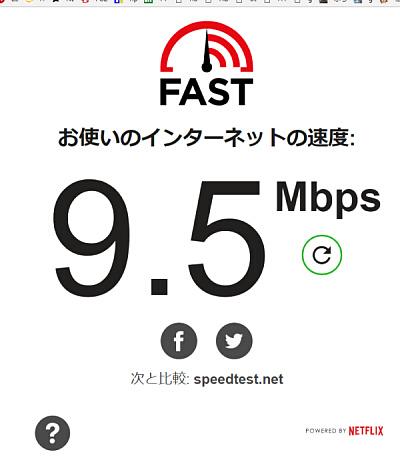インターネット接続回線の通信速度測定
